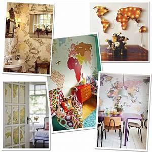 Carte Du Monde Deco : inspiration d coration pour voyageurs the daydreameuse blog voyage lifestylethe ~ Teatrodelosmanantiales.com Idées de Décoration