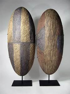 5111-Pair of African Tribal Shields on Mount - Ciro's Loft
