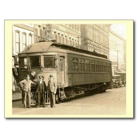 trolley zanesville newark ohio vintage postcard