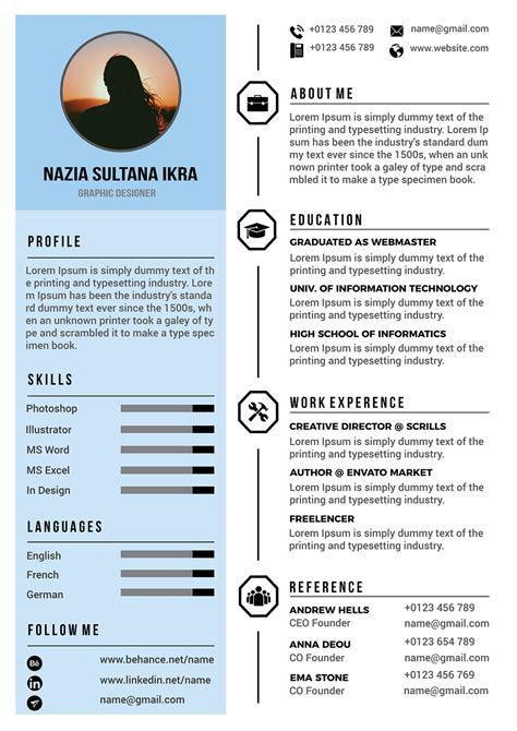 Modern Resume Design by 34 Best Modern Design Resume Templates Simplefreethemes