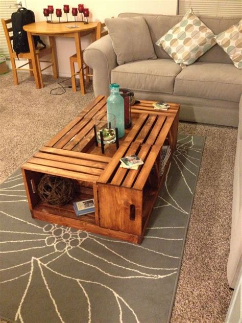 livingston  diy wine crate coffee table