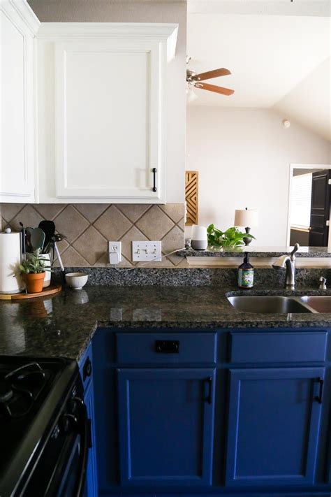 diy blue white kitchen cabinets love renovations