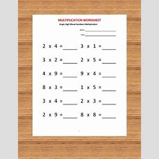 Multiplication Single Digit Practice Worksheets (40 Worksheets With Answers) Pdf Year 2 3,4