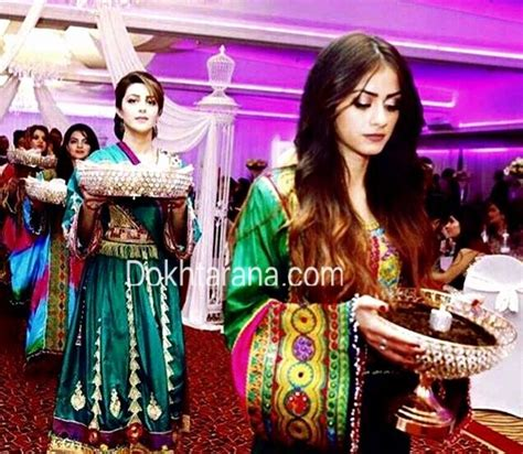 afghan national dress style girls wedding henna