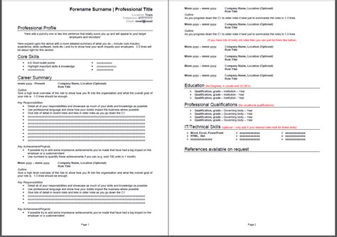 Templates Cv by Traditional Cv Template