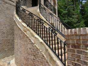 outside iron rails for stairs