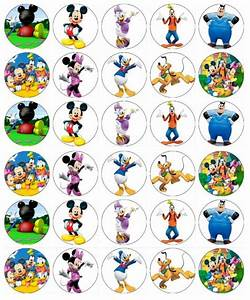 30 X Mickey Mouse Clubhouse Cupcake Toppers Edible Wafer ...