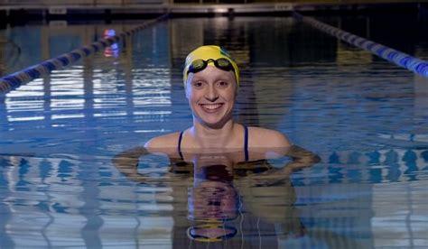 katie ledecky breaks  world records  texas swim meet