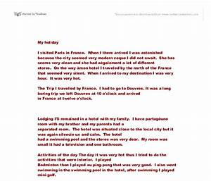 Example Of A Essay Paper My Favorite Holiday Place Essay English Literature Essays also The Importance Of Learning English Essay My Favourite Holiday Essay Animal Research Essay My Favourite  Public Health Essay