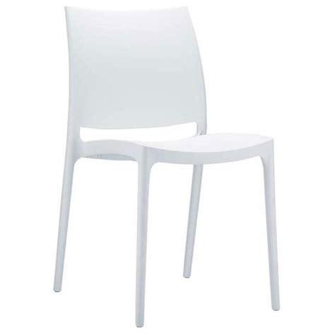 chaise longue en plastique blanc chaise de jardin empilable en plastique blanc achat