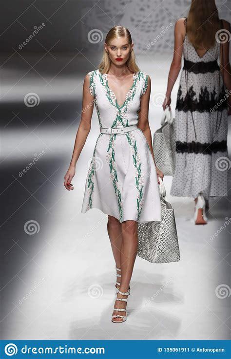 elsa hosk walks  runway   blumarine show