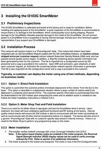 Itron 010102a Smart Meter User Manual User Guide