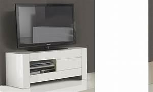 Grand Meuble Tv : grand meuble tv design blanc laqu totti ~ Teatrodelosmanantiales.com Idées de Décoration