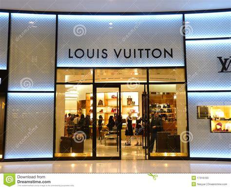 Louis Vuitton Fashion Boutique Editorial Stock Photo