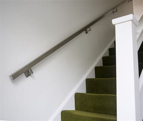 wall mounted handrail height brushed stainless steel metal banister stair handrail pre