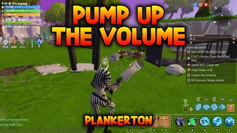 pump   volume rebuild  survivor relays fortnite
