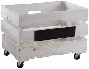 Caisse Bois Rangement : caisses de rangement en bois blanchi lot de 2 ~ Teatrodelosmanantiales.com Idées de Décoration