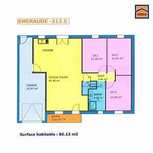 plan de maison plein pied gratuit 3 chambres household With faire plan de sa maison 2 maison pour primo accedants detail du plan de maison
