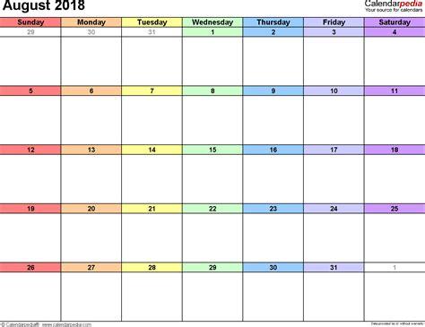 august  printable calendar calendar yearly printable