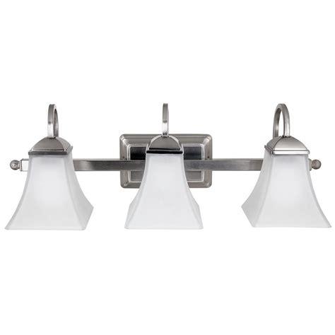 hton bay vanity light hton bay 3 light brushed nickel integrated led vanity