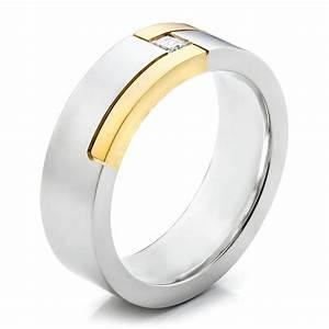Men39s Two Tone And Diamond Wedding Band 100123 Seattle