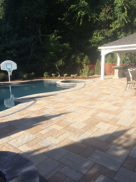 aqua pool and patio connecticut paver pool patios in connecticut the bahler brothers