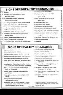 Healthy Relationship Boundaries Worksheets
