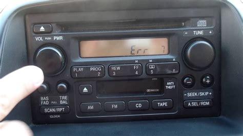 Crv Radio Code by Encontrar Codigo De Radio De Un Honda Crv 2003 2006
