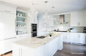 bianco romano granite contemporary kitchen benjamin With kitchen colors with white cabinets with birds in flight wall art