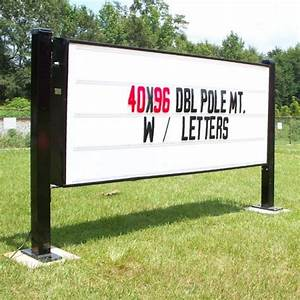 illuminated changeable letter double pole mount sign With sign with interchangeable letters