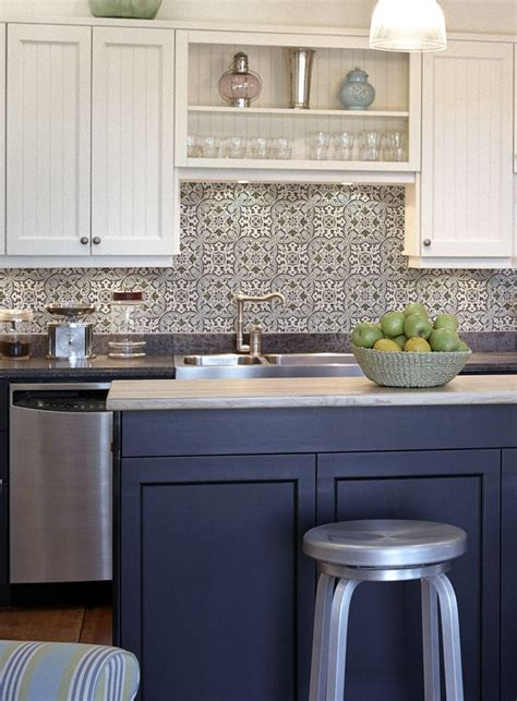 Backsplash Tile Ideas Small Kitchens by Collection Backsplash Ideas Blue Kitchen Tiles