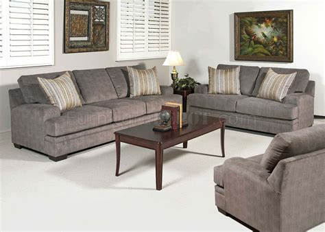 Loveseat And Chair Set by 51005 Claude Sofa In Smoothie Grey Fabric By Acme W Options