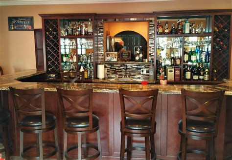 Home Bar Project by Get A Custom Home Bar And Built In Wine Storage Cabinet