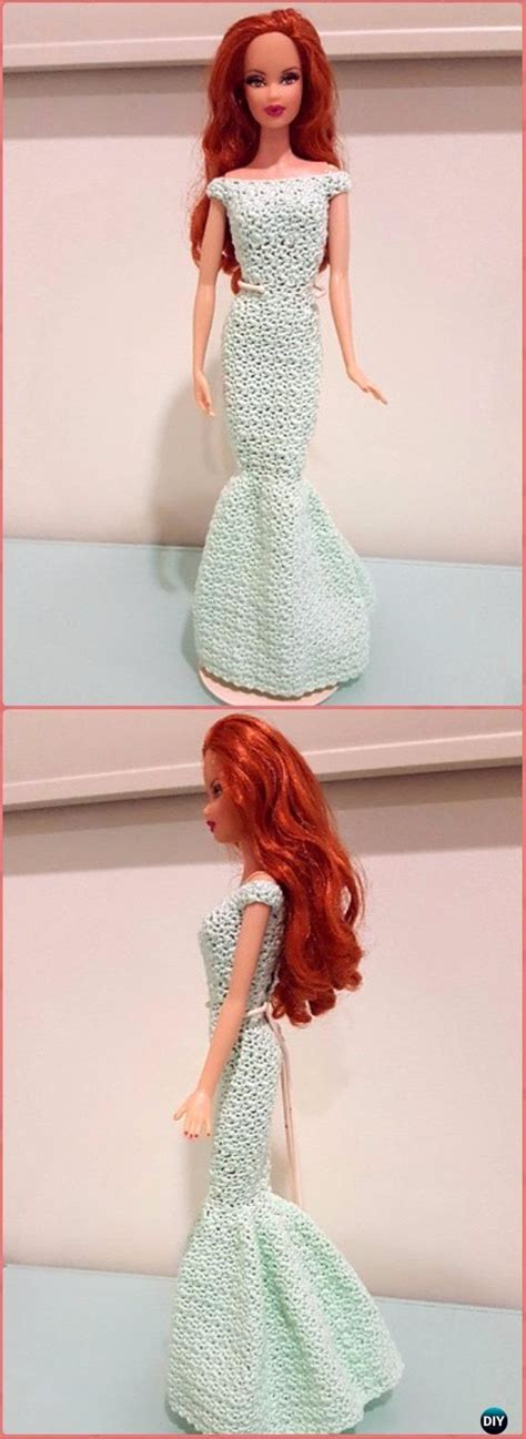 crochet barbie fashion doll clothes outfits  patterns