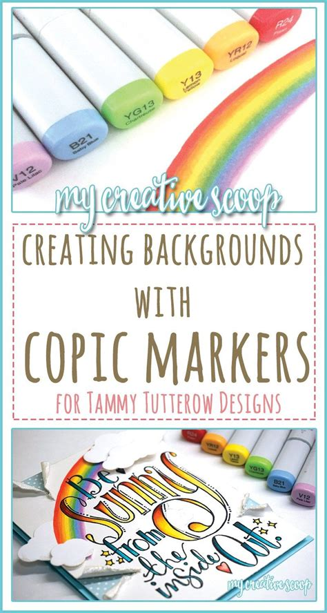 Coloring Using Copic Markers by Creating Backgrounds Your Images Using Copic