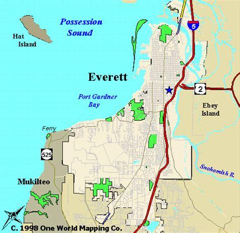 Of Everett by New Maps Of Everett Everett Washington
