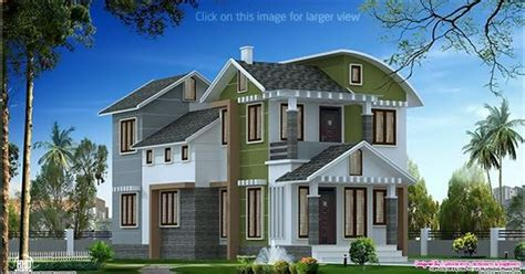Villa elevation design in 1900 sq.feet - Kerala home