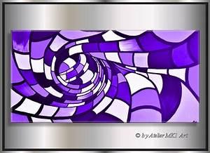 Leinwandbilder Selbst Gemalt : mk1 art bild leinwand abstraktes gem lde kunst malerei lila bilder xxl acryl ebay ~ Orissabook.com Haus und Dekorationen