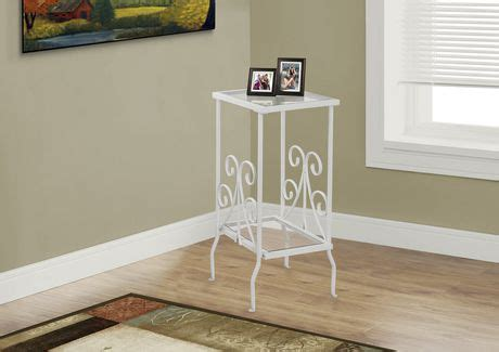 accent glass nc monarch specialties metal accent table walmart ca 3970