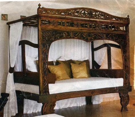 cheap canopy bed bed frames teak canopy bed java