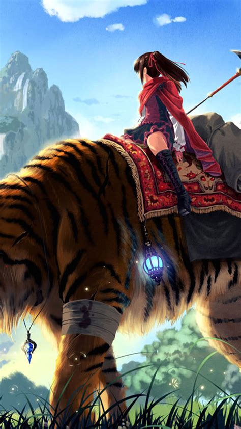 wallpaper anime girl original tiger anime