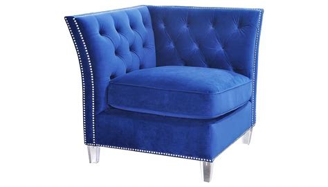giza royal blue accent chair home zone furniture