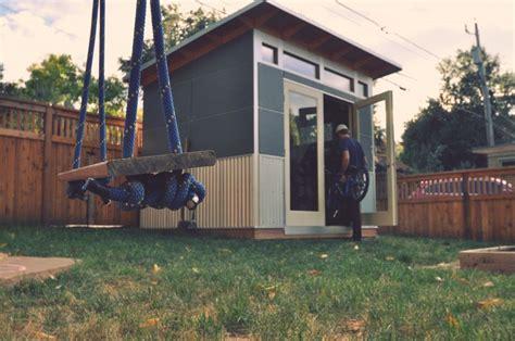 Building A Studio In The Backyard by Studio Shed Creates High Efficiency Prefabricated Backyard