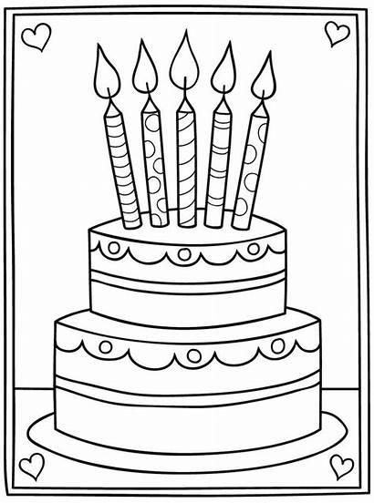 Birthday Cake Digi Stamps Card Papercraft Craft
