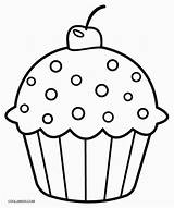Muffin Template Muffins Colouring Pages Templates sketch template