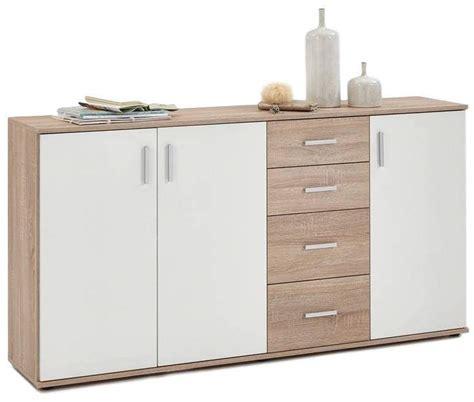 dressoir 160 breed dressoir albi 160 cm breed eiken met wit fd furniture