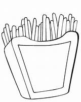 Fries Coloring French Pages Mcdonalds Printable Drawing Burger Frenchfries Hamburger Template Junk Getcolorings Clipartmag Getdrawings Trending Days Last sketch template