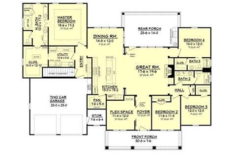 craftsman open floor plans craftsman open floor plans 37 best house plans images on