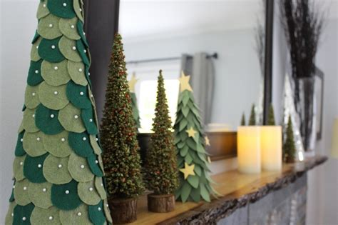 picture of diy felt christmas trees
