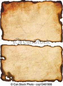 Old Paper With Burnt Edges Isolated... Stock Illustration ...